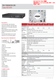 Katalog záznamové zařízení pro kamery HD-TVI Turbo HD